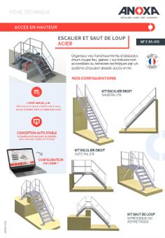 Fiche technique Escalier et Saut de loup standard acier