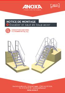 Notice de montage escalier et saut de loup acier